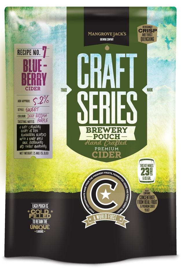 Mangrove Jack's Craft Series Blueberry Cider Brewery Pouch