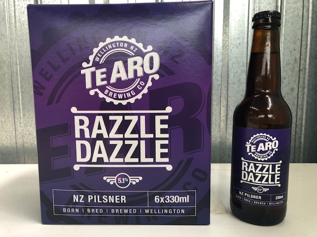 Razzle Dazzle NZ Pilsner - six-pack of 330ml Bottles