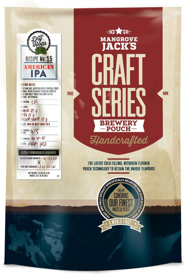 Mangrove Jack's Craft Series American IPA Brewery Pouch