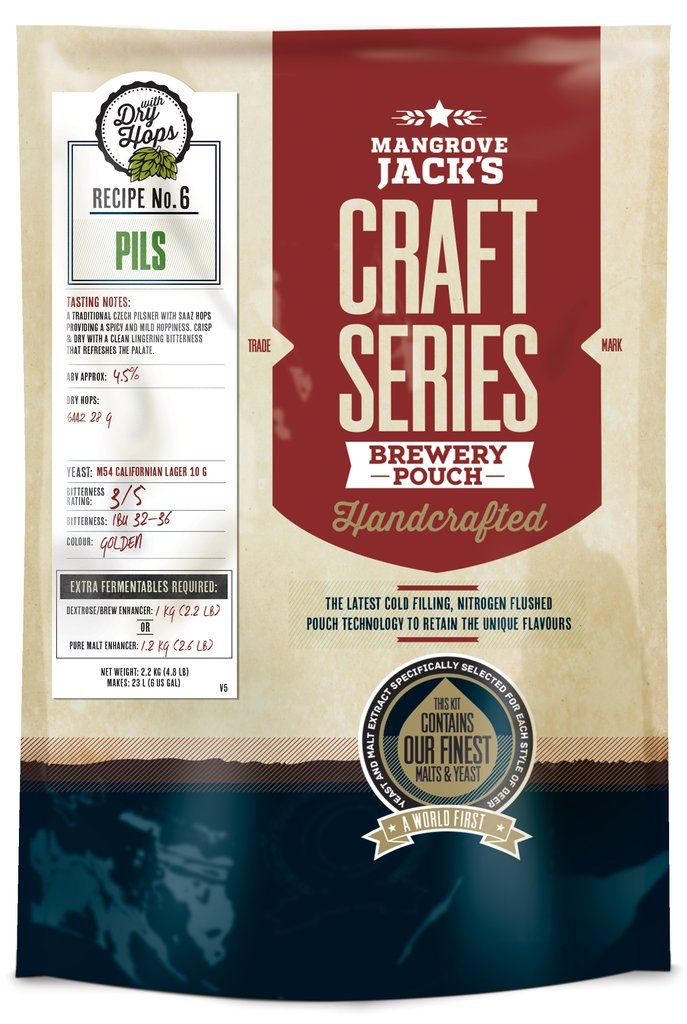Mangrove Jack's Craft Series Pils Brewery Pouch