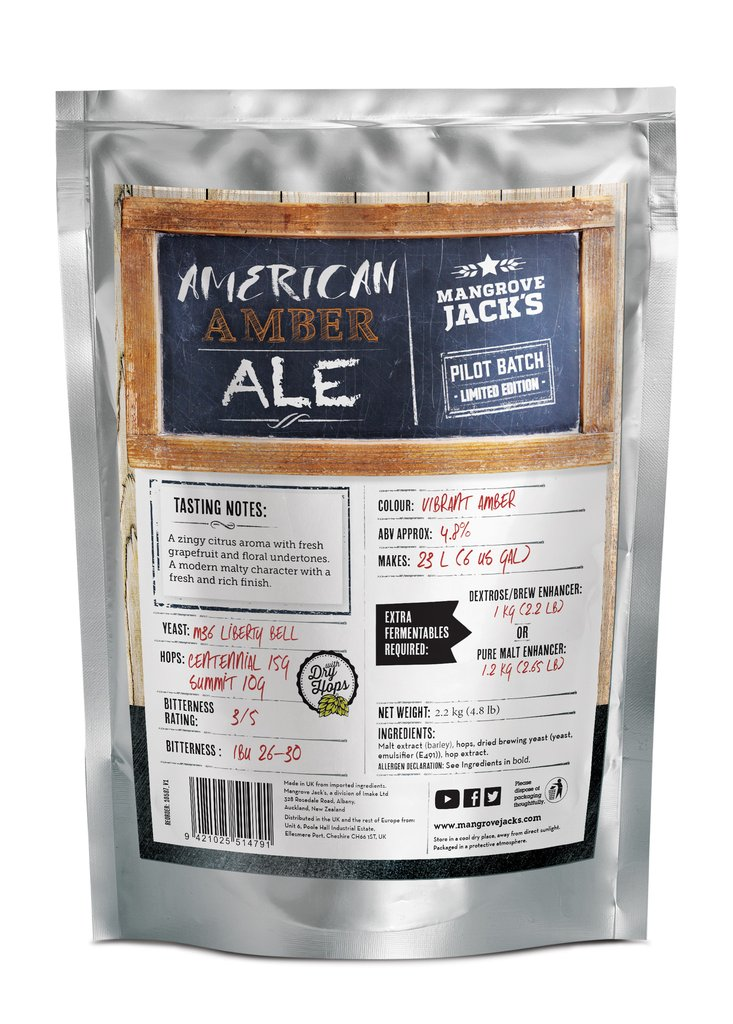 Mangrove Jack's Craft Series Red IPA Brewery Pouch