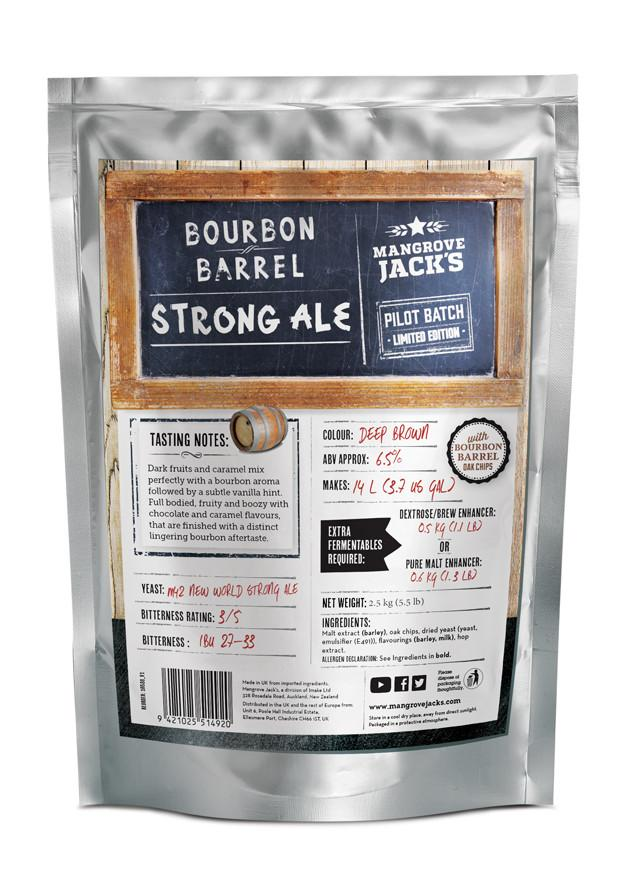 Mangrove Jack's Bourbon Barrel Strong Ale 6.5%  Brewery Pouch