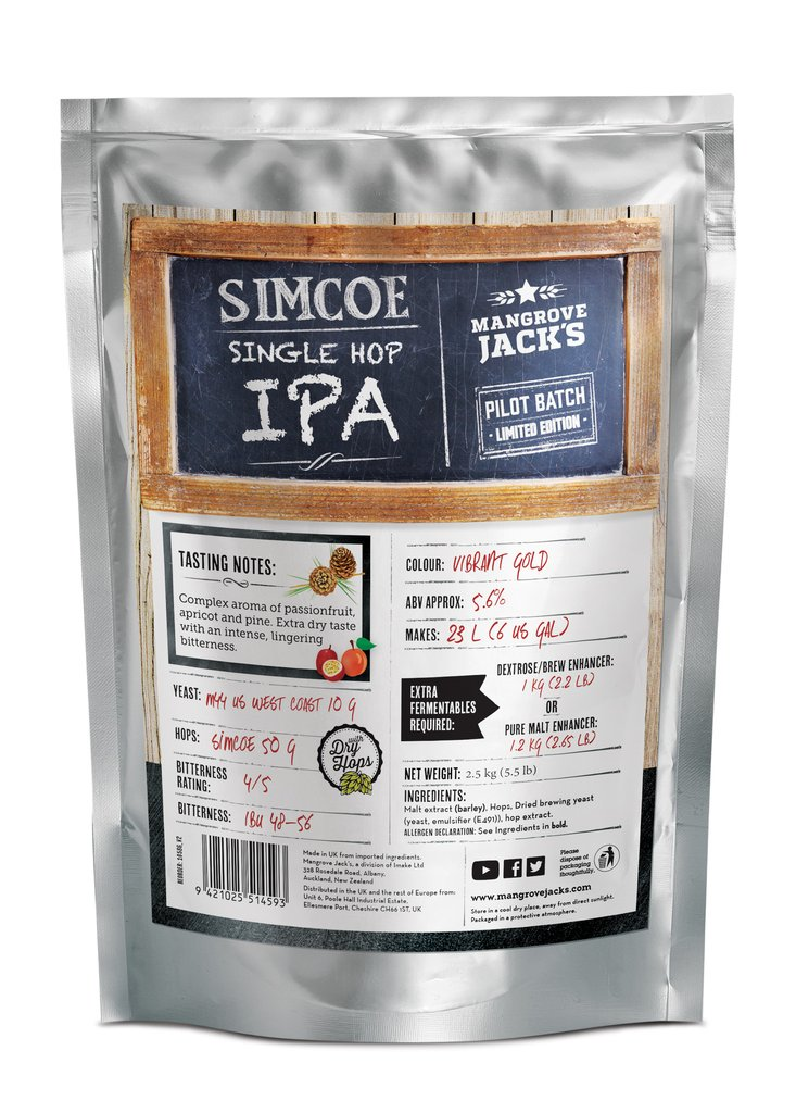 Mangrove Jack's Simcoe Single Hop IPA Brewery Pouch