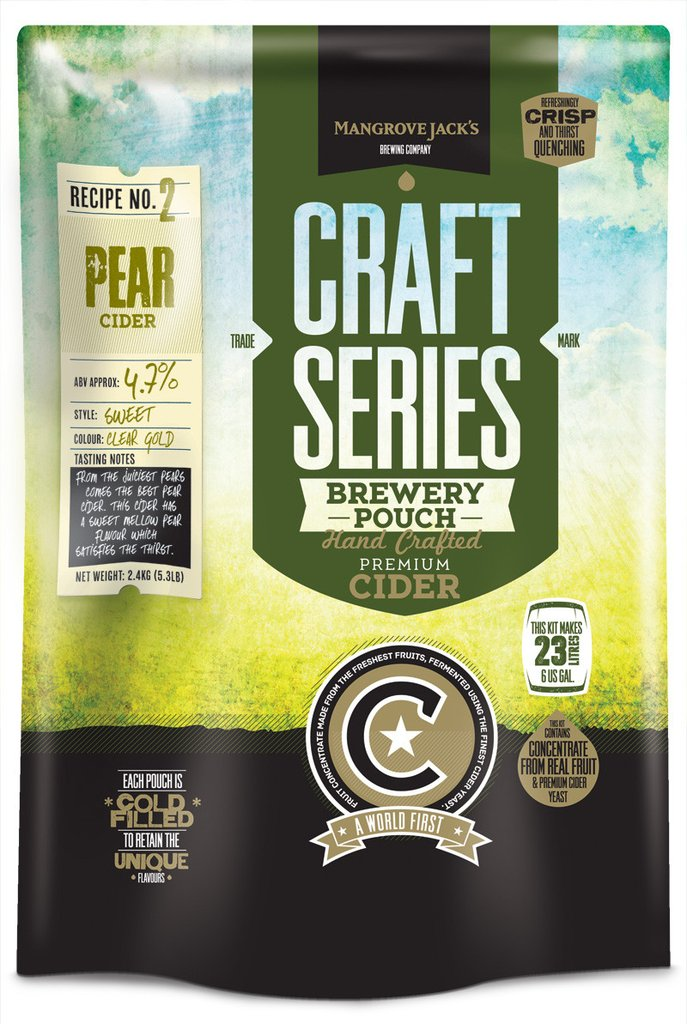 Mangrove Jack's Craft Series Pear Cider Brewery Pouch