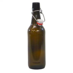 12 x 500ml Amber Glass Flip Top Bottles